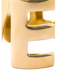 Givenchy - Metallic Love Cut-out Cuff - Lyst