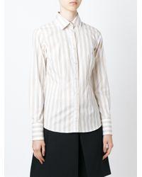 Mauro Grifoni - White - Striped Shirt - Women - Cotton - 42 - Lyst