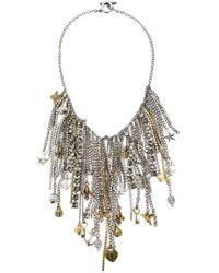 Vera Wang | Metallic Charm Necklace | Lyst