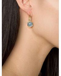 Irene Neuwirth - Blue 18kt Gold Aquamarine Drop Earrings - Lyst