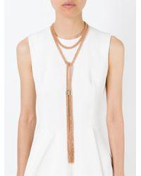 Rosantica - Metallic 'itaca' Lariat Necklace - Lyst