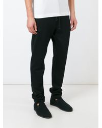 Dolce & Gabbana - Black Straight Leg Track Pants for Men - Lyst