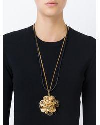Versace - Black Medusa Coin Necklace - Lyst