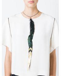 Maison Margiela | Black Feather Pendant Necklace | Lyst