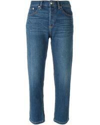 Marc By Marc Jacobs | Blue - Cropped Boyfriend Jeans - Women - Cotton/polyester/spandex/elastane - 27 | Lyst