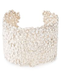 Natasha Collis | White Large Cobbled Cuff | Lyst