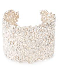 Natasha Collis | White Large Cobbled Cuff | Lyst