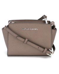 MICHAEL Michael Kors | Gray Mini 'selma' Crossbody Bag | Lyst