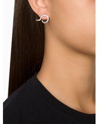 Ileana Makri | Metallic Circular Diamond Tip Ear Cuffs | Lyst