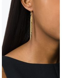Natasha Collis - Metallic Waterfall Pin Earrings - Lyst