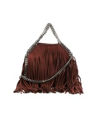 Stella McCartney - Red Tiny 'falabella' Fringed Tote - Lyst