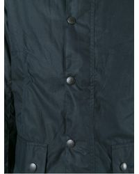 Barbour - Black Waxed Effect Buttoned Jacket for Men - Lyst