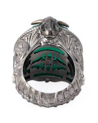 Stephen Webster - Green Spiked Spine Cocktail Ring - Lyst