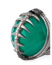 Stephen Webster - Green Spiked Spine Cocktail Ring - Lyst