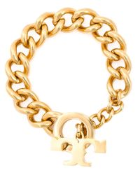 Tory Burch | Metallic Chunky Chain Bracelet | Lyst