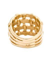 Aurelie Bidermann | Metallic 'marella' Ring | Lyst