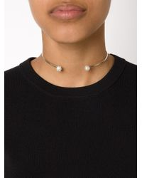 Nektar De Stagni - Gray Pearl And Marble Detail Choker - Lyst