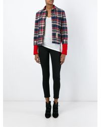 DSquared² - Red Contrasted Panel Jacket for Men - Lyst
