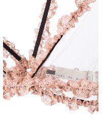 Fleur du Mal - Pink Lace Bondage Triangle Bra - Lyst