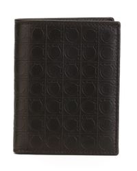 Ferragamo - Brown Embossed Gancio Wallet for Men - Lyst