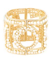 Dolce & Gabbana - Metallic Amore Pearl Cuff - Lyst