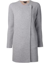 Theory - Gray Double Face Knit Coat - Lyst