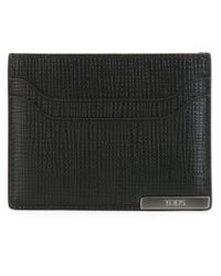 Tod's - Black Logo Plaque Cardholder for Men - Lyst