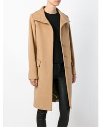 Helmut Lang - Blue Single Breasted Coat - Lyst