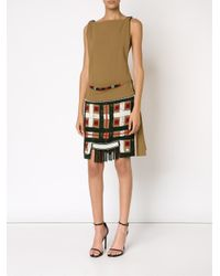 Jean Paul Gaultier - Brown Beaded Apron Dress - Lyst