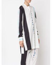 Baja East - White - Tunic Blouse - Women - Nylon/polyurethane/wool - 1 - Lyst