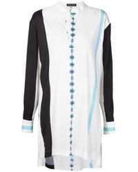 Baja East - White - Tunic Blouse - Women - Nylon/polyurethane/wool - 1 - Lyst