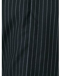 Givenchy - Black Pinstripe Flannel Shirt for Men - Lyst