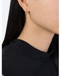 Natasha Collis - Blue Sapphire And Brown Diamond Drop Earrings - Lyst