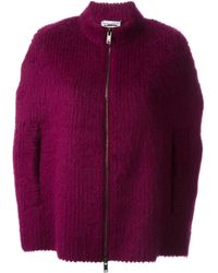 Sonia Rykiel - Pink Knit Zipped Caped - Lyst