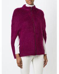 Sonia Rykiel - Pink Knit Zipped Caped - Lyst