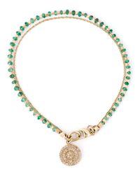 Astley Clarke   Metallic 'aura Fine Biography' Emerald And Diamond Bracelet   Lyst