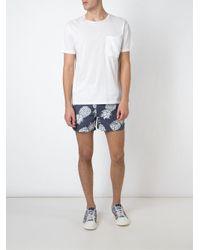 Valentino - Blue Pineapple Print Swim Shorts - Lyst