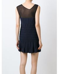 Jay Ahr - Blue Sheer Panel Dress - Lyst