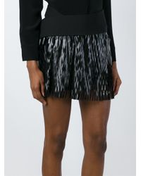 Jay Ahr | Black Cut-out Detail Mini Skirt | Lyst