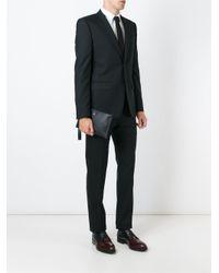 Versace - Black Logo Plaque Clutch for Men - Lyst