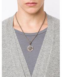 Roman Paul - Gray Lion's Head Pendant Necklace for Men - Lyst