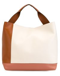 Marni | Brown 'pod' Colour Block Tote | Lyst
