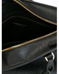 Tory Burch | Black Logo Plaque Small Tote | Lyst
