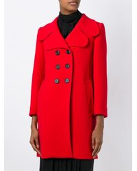 Marc Jacobs - Blue Classic Double Breasted Coat - Lyst