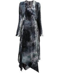 Y. Project | Black Velvet Wrap Dress | Lyst