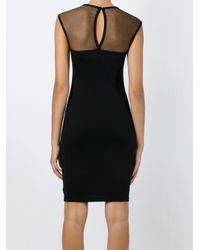 DIESEL | Black Mesh Panel Dress | Lyst