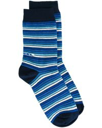 DIESEL | Blue Striped Socks for Men | Lyst