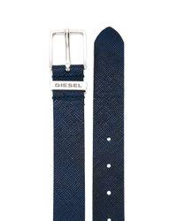 DIESEL | Blue Classic Buckle Belt for Men | Lyst