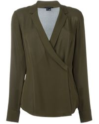 Theory | Green V-neck Blouse | Lyst