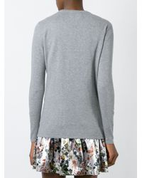 Markus Lupfer - Gray Flower Appliqué Jumper - Lyst